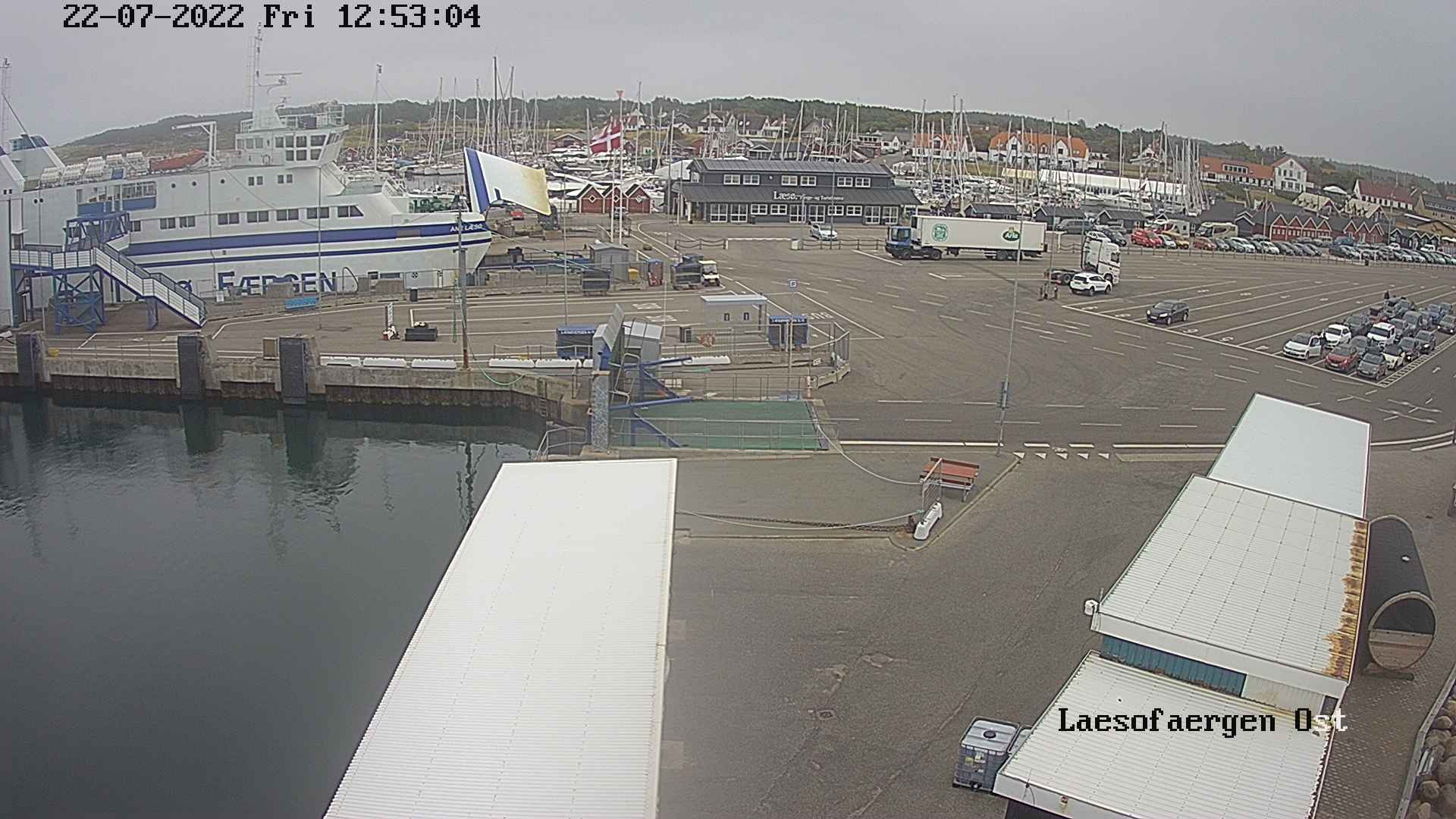 Island Laesoe, Harbour Live Webcam, Denmark